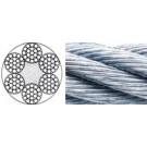 Dra 619 Rundlitzenseil, 6 x19 + Fasereinlage  (FC), Klasse 6 x19 (Stahl Verzinkt)