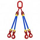 Rundschlingengehänge mit hochfesten Bauteilen 4 strängig