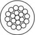 Edelstahlseile Vier 119 Wirkstoff 1.4401 Drahtseil 1 x 19 Drähte